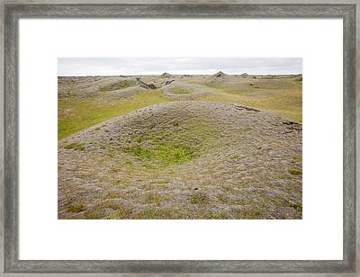 Pseudo Craters Framed Print