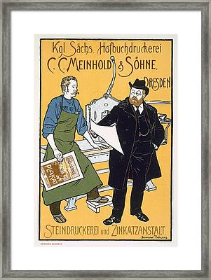 Poster Advertising C C Meinhold And Sons Framed Print