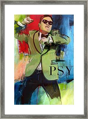Psy Framed Print by Corporate Art Task Force