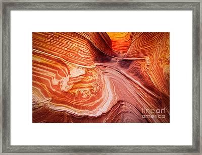 Psychadelic Sandstone Framed Print by Inge Johnsson