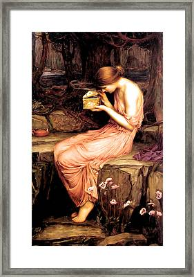 Psyche Opening The Golden Box 1903 Framed Print