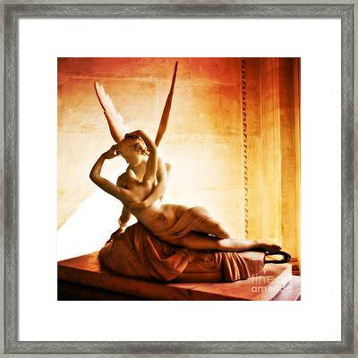 Psyche Revived By Cupids Kiss Framed Print by Phill Petrovic