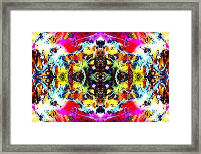 Psychedelic Abstraction Framed Print by Marianne Dow