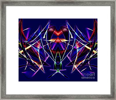 Psychedelic Bat N Wings Framed Print