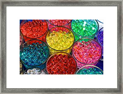 Psychedelic Beads Framed Print by Frozen in Time Fine Art Photography