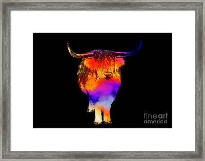 Psychedelic Bovine Framed Print