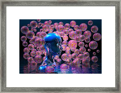Psychedelic Bubbles Framed Print by Carol and Mike Werner