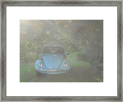 Psychedelic Bug Framed Print by Diannah Lynch