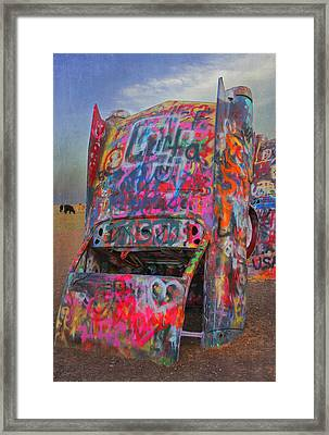 Psychedelic Cadillac Framed Print