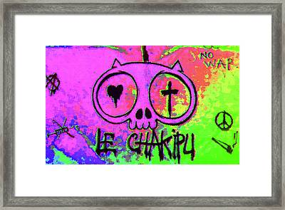 Psychedelic Cat Framed Print by Manik Designs