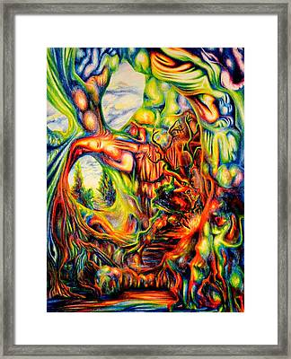 Psychedelic Cavern Framed Print