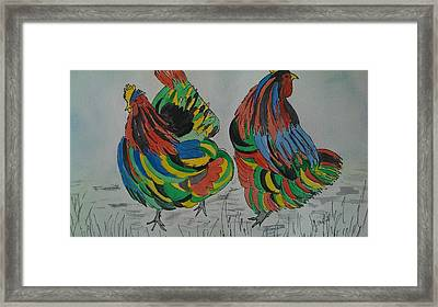 Psychedelic Chooks Framed Print