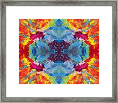 Psychedelic Collision Framed Print by Pattie Calfy
