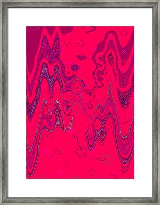 Psychedelic Framed Print by DigiArt Diaries by Vicky B Fuller