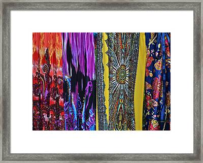 Psychedelic Dresses Framed Print by Frozen in Time Fine Art Photography