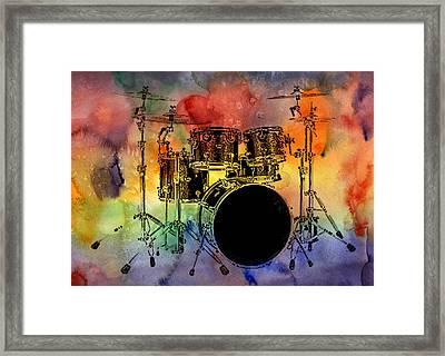 Psychedelic Drum Set Framed Print