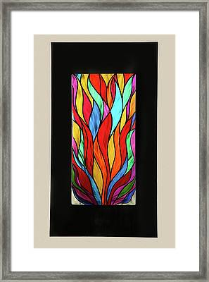 Psychedelic Flames Framed Print by Rick Roth