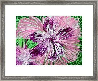 Psychedelic Flower Framed Print