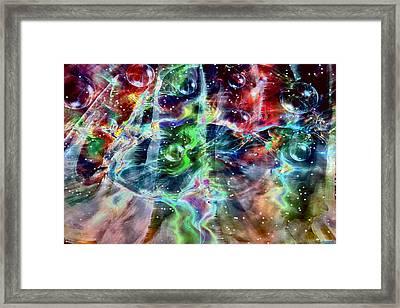 Psychedelic Galaxy Framed Print