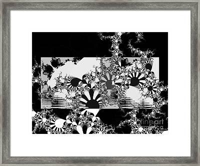 Psychedelic Garden Framed Print by Elizabeth McTaggart
