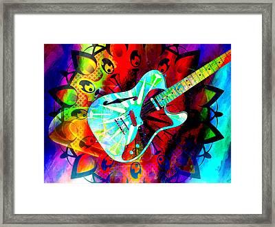 Psychedelic Guitar Framed Print