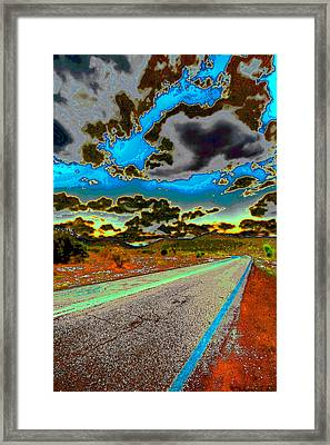 Psychedelic Highway Framed Print