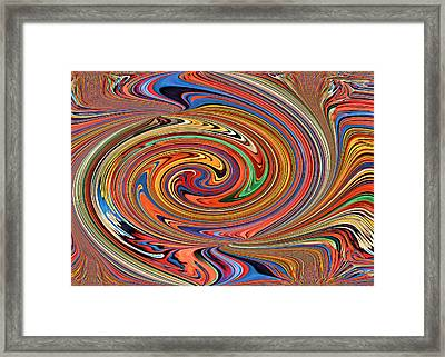 Psychedelic Framed Print by Kristin Elmquist