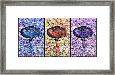 Psychedelic Mushrooms Framed Print
