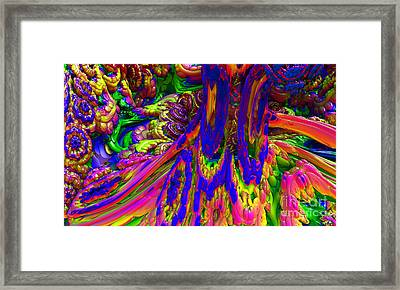 Framed Print featuring the digital art Psychedelic Pastries by Arlene Sundby
