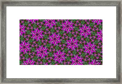 Framed Print featuring the digital art Psychedelic Pink by Elizabeth McTaggart