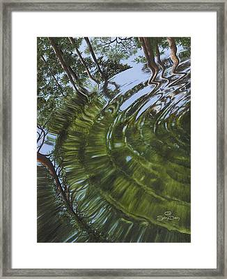 Psychedelic Puddle Framed Print by Sekoya Dawn