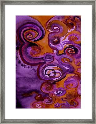 Psychedelic Purple Erebor Framed Print by Beverley Harper Tinsley