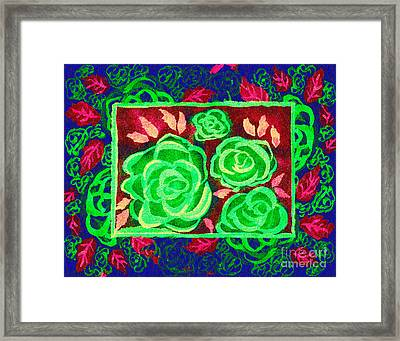 Psychedelic Roses - Autumn Framed Print