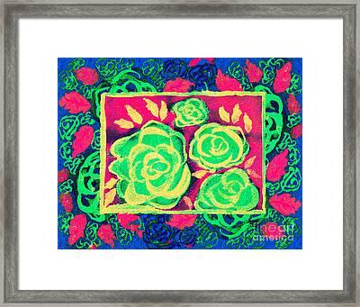 Psychedelic Roses - Spring Framed Print