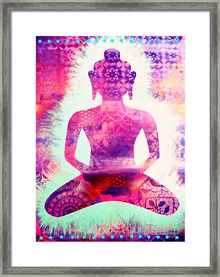Psychedelic Samadhi Framed Print by Cat Athena Louise