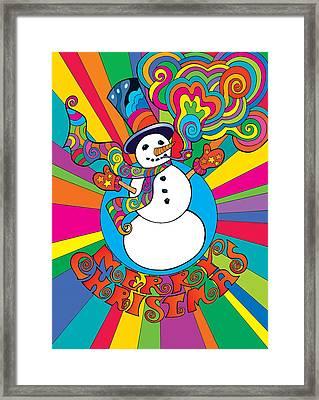 Psychedelic Santa 2 Framed Print