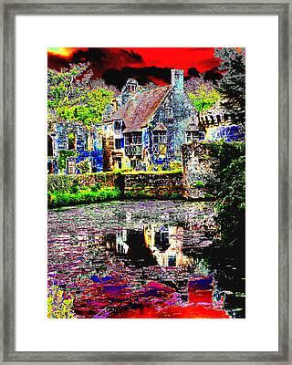 Psychedelic Scotney Castle Framed Print
