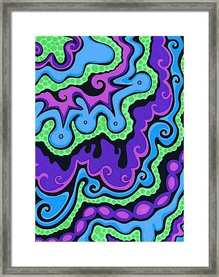 Psychedelic Smoothie Framed Print by Mandy Shupp