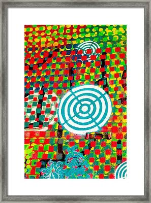 Psychedelic Street Art  Framed Print