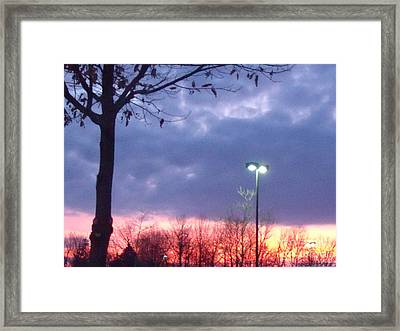 Framed Print featuring the photograph Psychedelic Sunset by Lyric Lucas