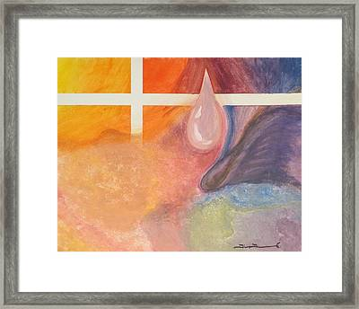 Psychedelic Tear Framed Print by Tim Townsend