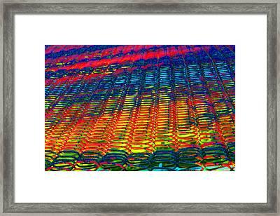 Psychedelic Yarn Framed Print by James Hammen