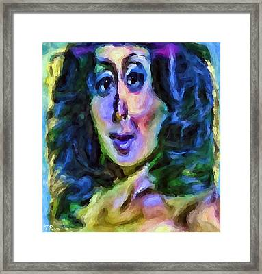 Psychedlic Woman Framed Print