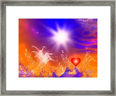 Psychic Framed Print by Ute Posegga-Rudel