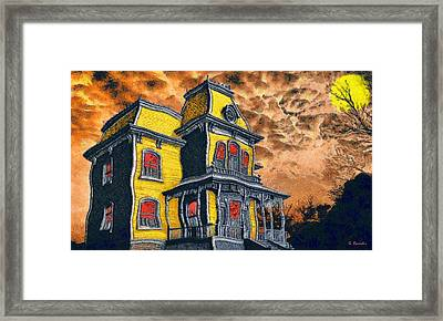 Psycho Framed Print by George Rossidis