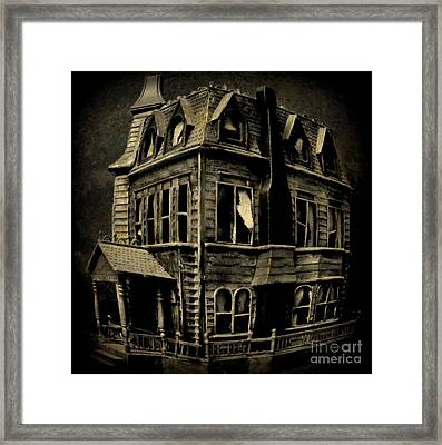 Psycho Mansion Framed Print by John Malone