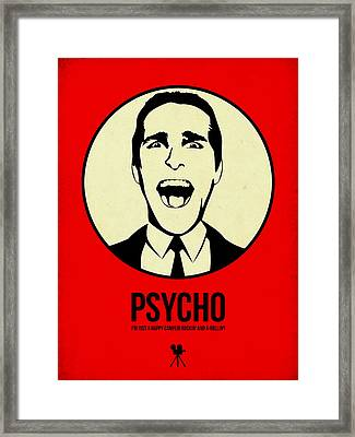 Psycho Poster 1 Framed Print by Naxart Studio
