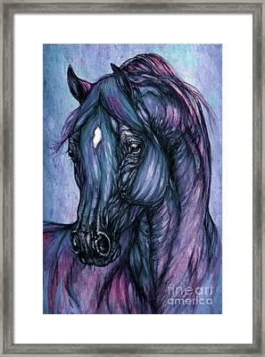 Psychodelic Deep Blue Framed Print by Angel  Tarantella