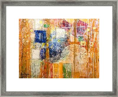 Psychogenesis Framed Print by Ron Richard Baviello