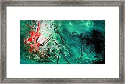 Psychological State Of Emerald Framed Print